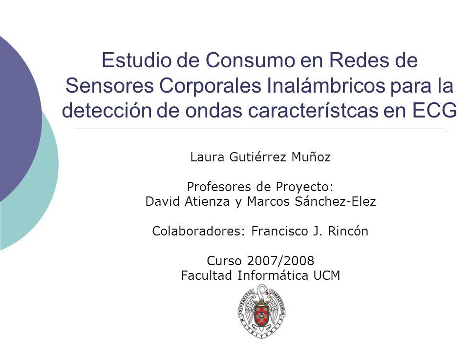 Estudio de Consumo en Redes de Sensores Corporales Inalámbricos para la detección de ondas característcas en ECG