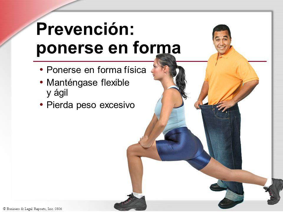 Prevención: ponerse en forma