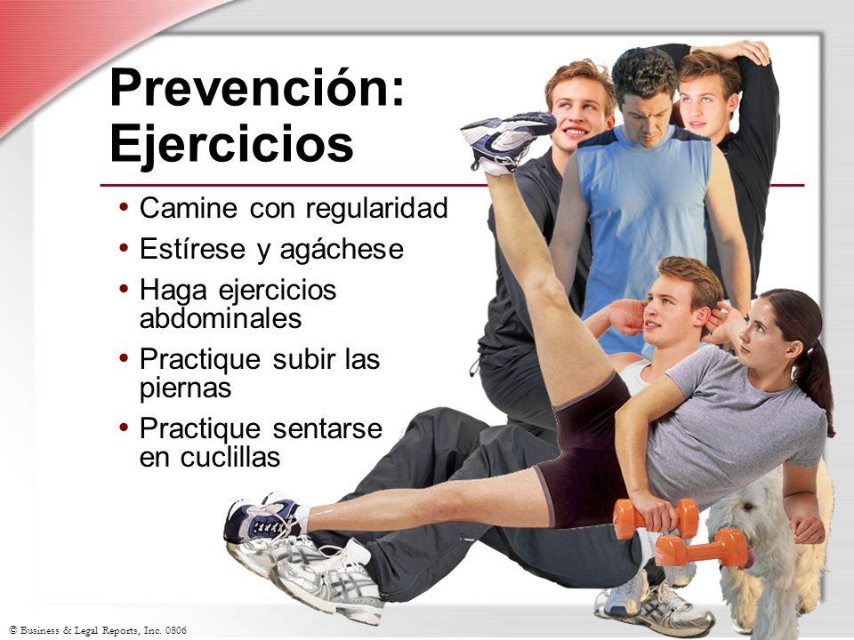 Prevención: Ejercicios