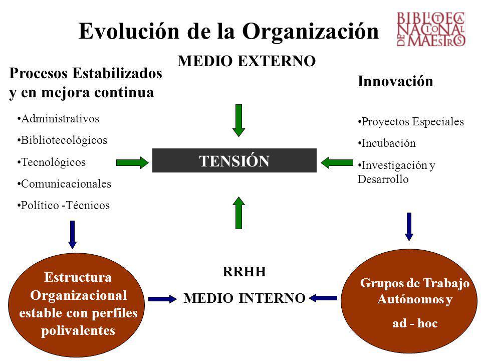 Evolución de la Organización