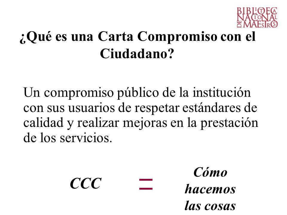 ¿Qué es una Carta Compromiso con el Ciudadano