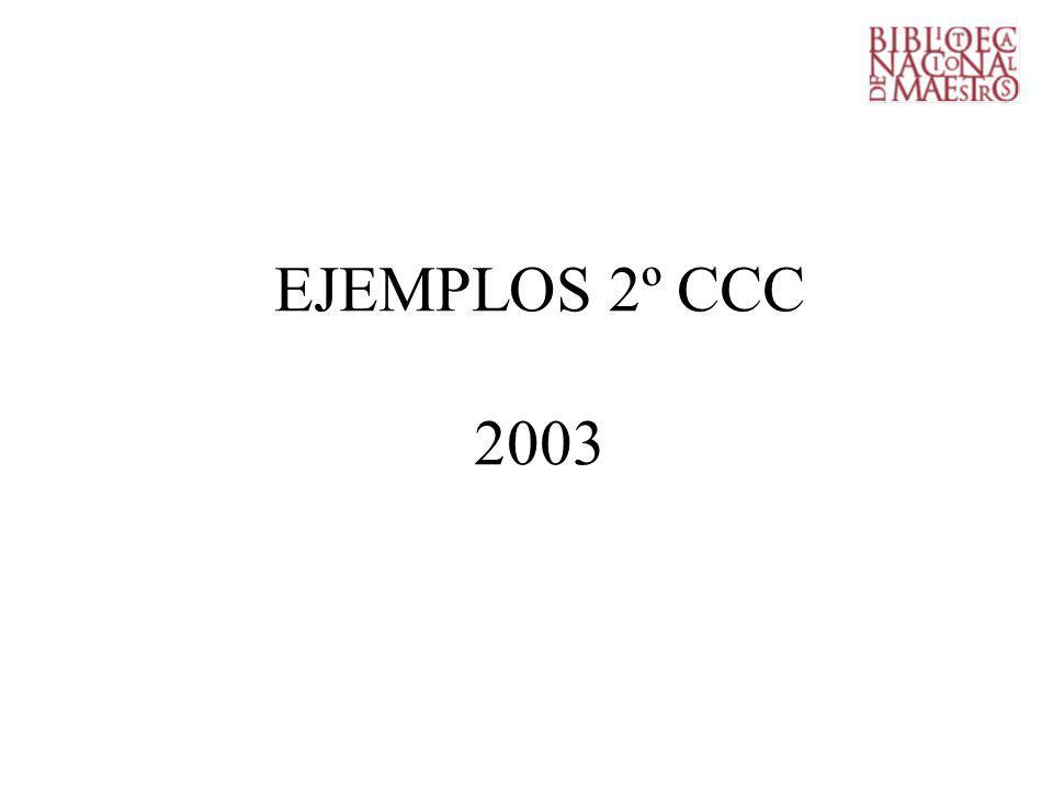 EJEMPLOS 2º CCC 2003