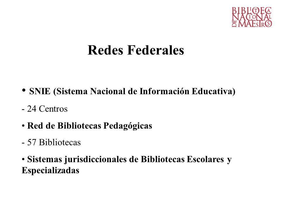 Redes Federales SNIE (Sistema Nacional de Información Educativa)
