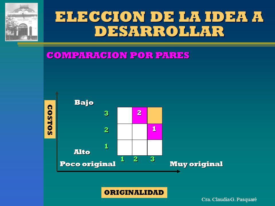 ELECCION DE LA IDEA A DESARROLLAR