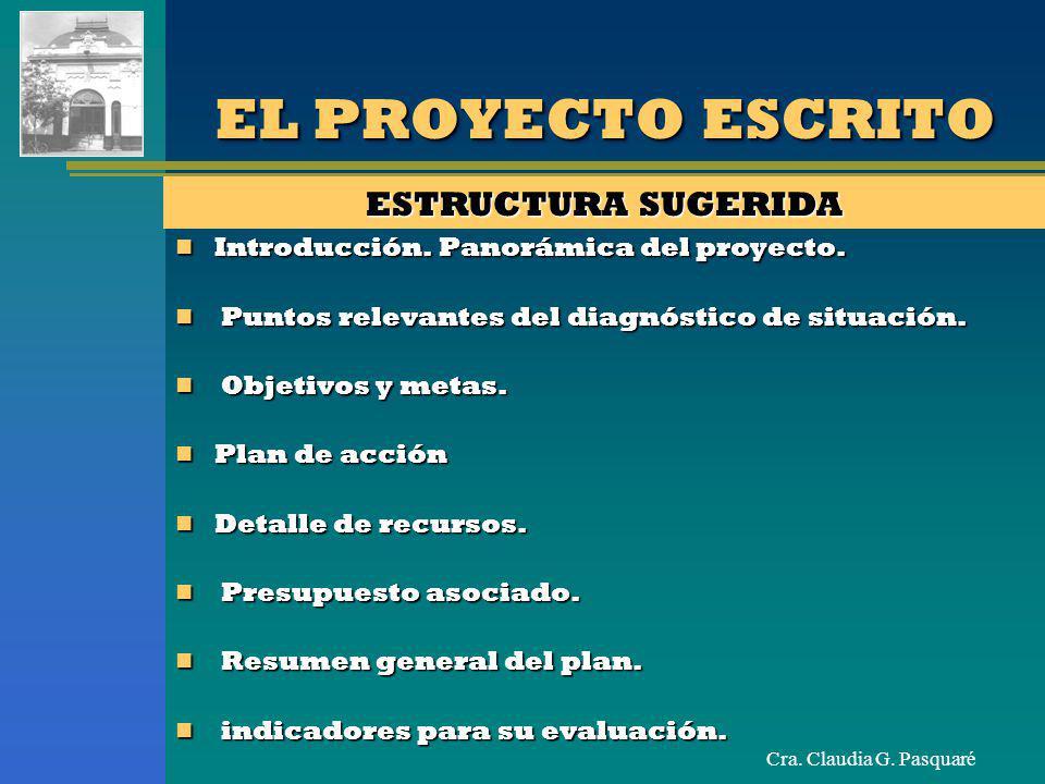EL PROYECTO ESCRITO ESTRUCTURA SUGERIDA