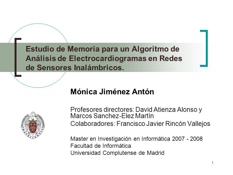 Estudio de Memoria para un Algoritmo de Análisis de Electrocardiogramas en Redes de Sensores Inalámbricos.