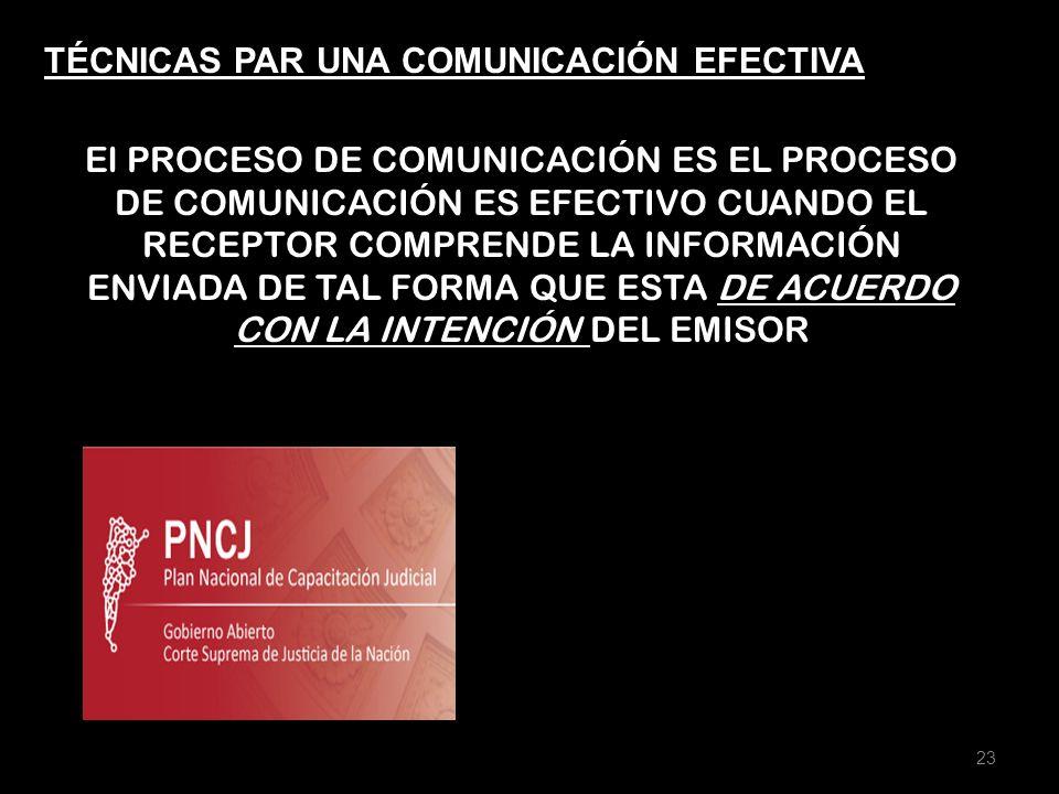 TÉCNICAS PAR UNA COMUNICACIÓN EFECTIVA