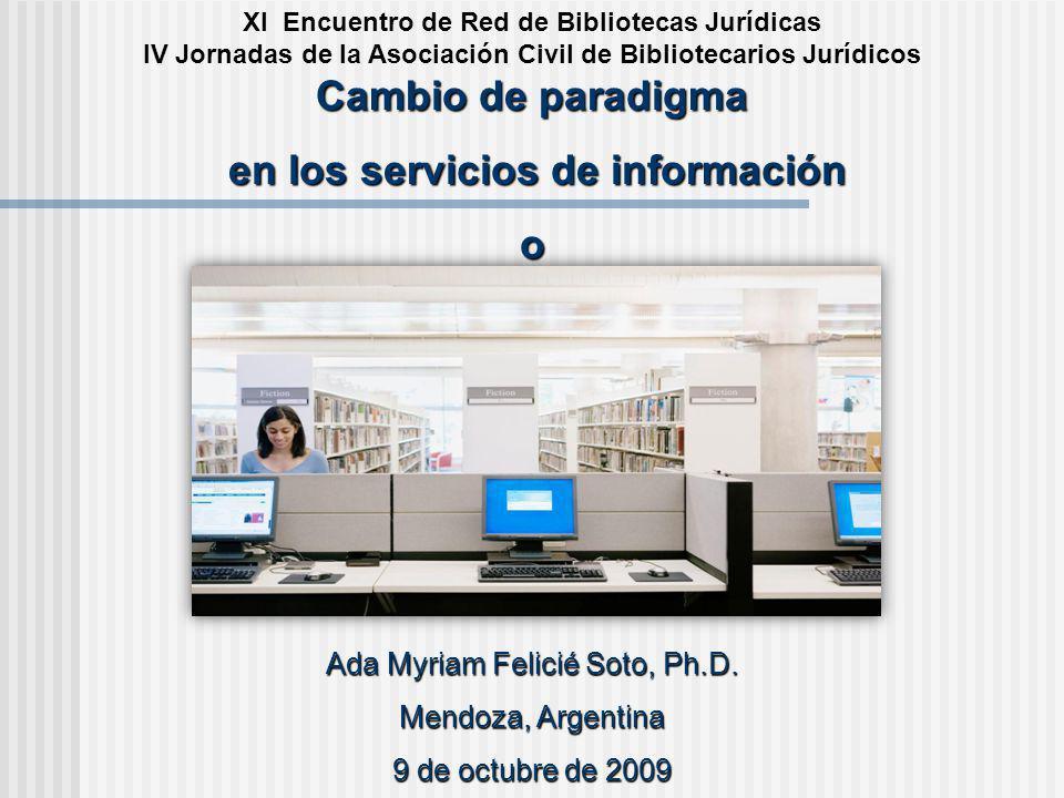 en los servicios de información