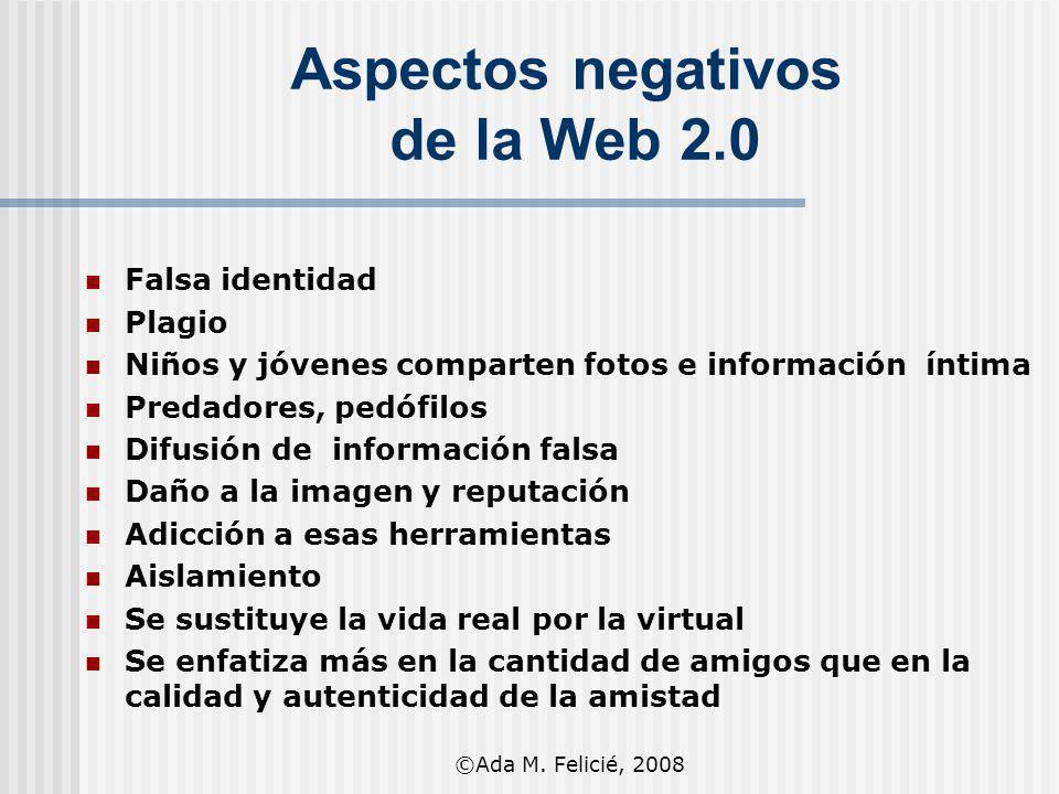 Aspectos negativos de la Web 2.0