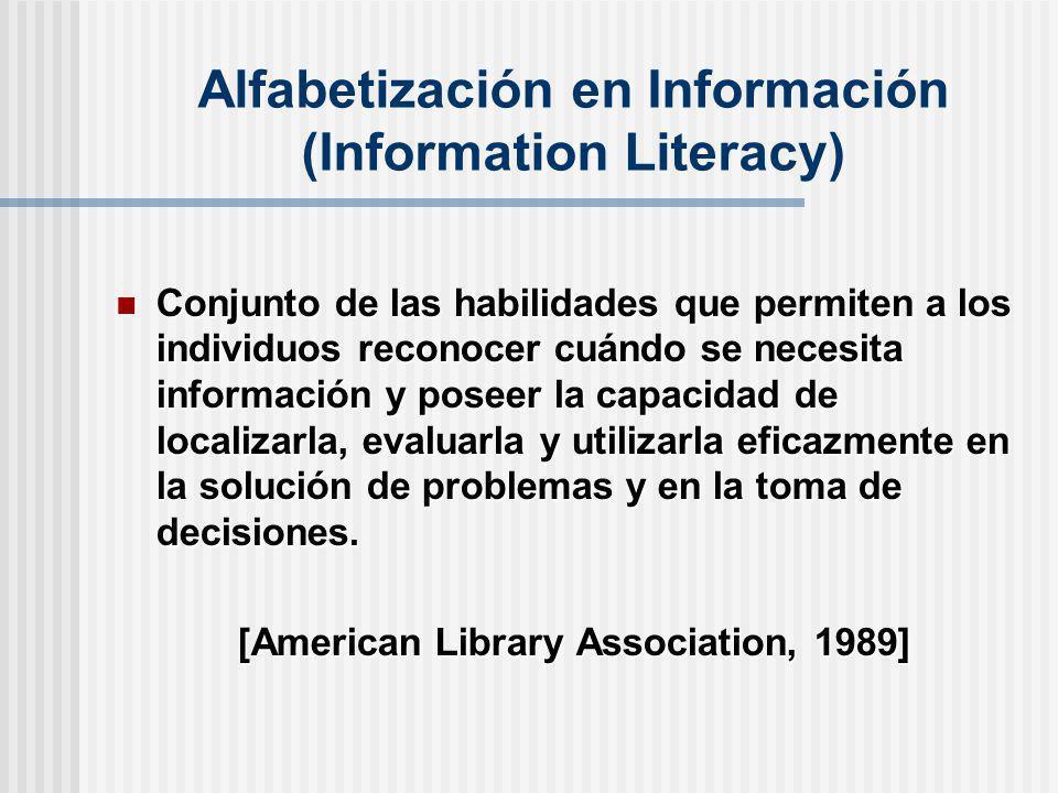 Alfabetización en Información (Information Literacy)