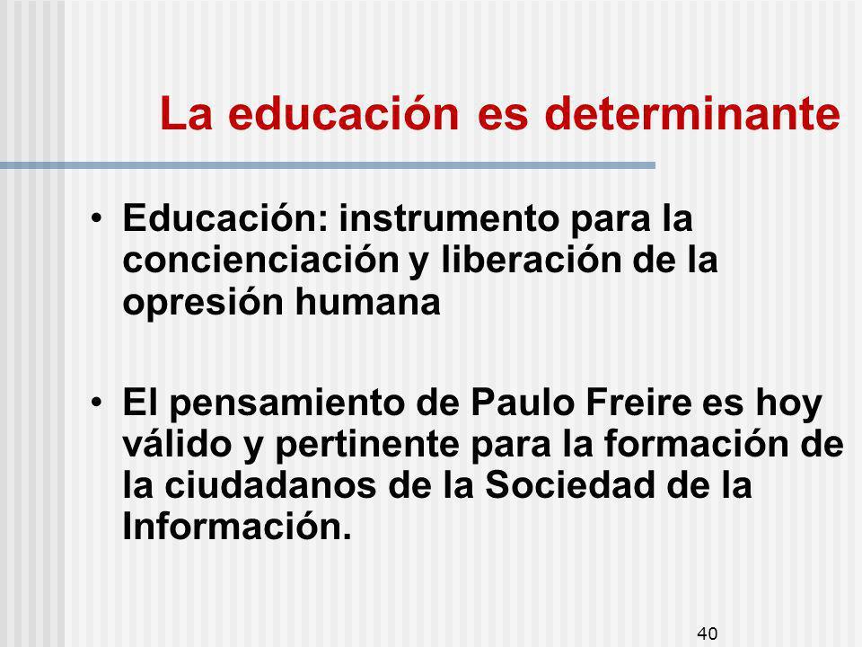 La educación es determinante