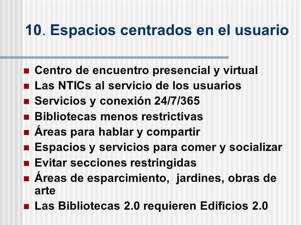 10. Espacios centrados en el usuario