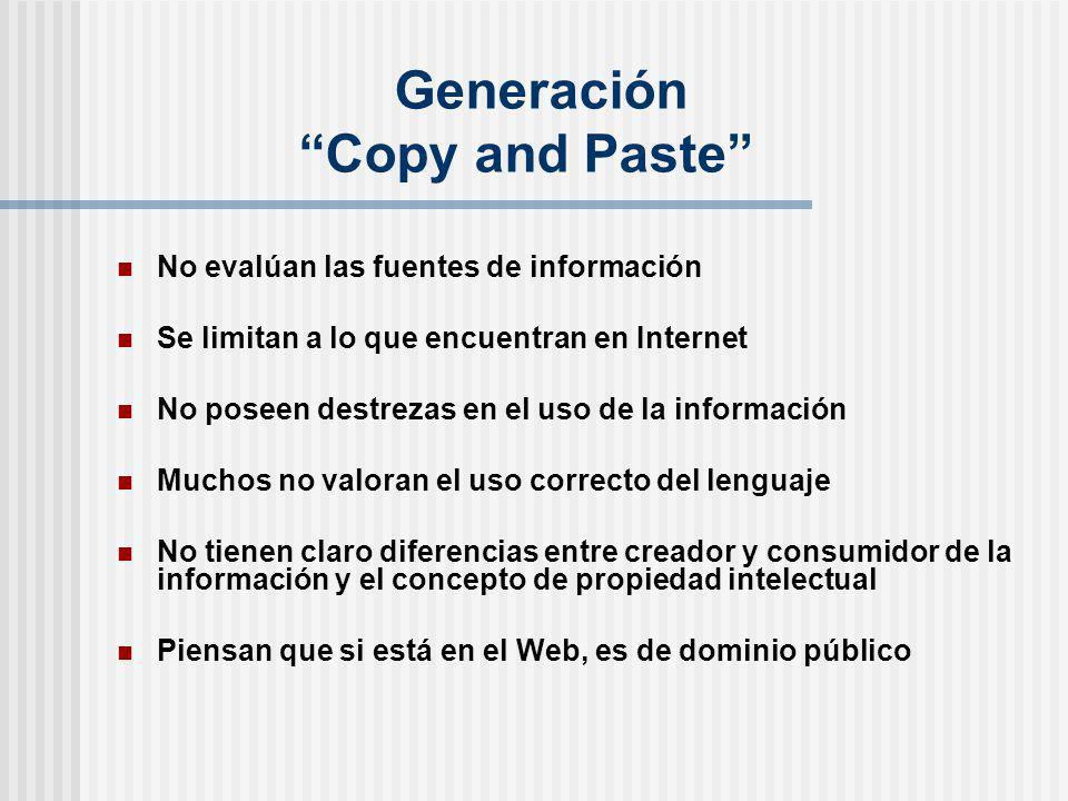 Generación Copy and Paste