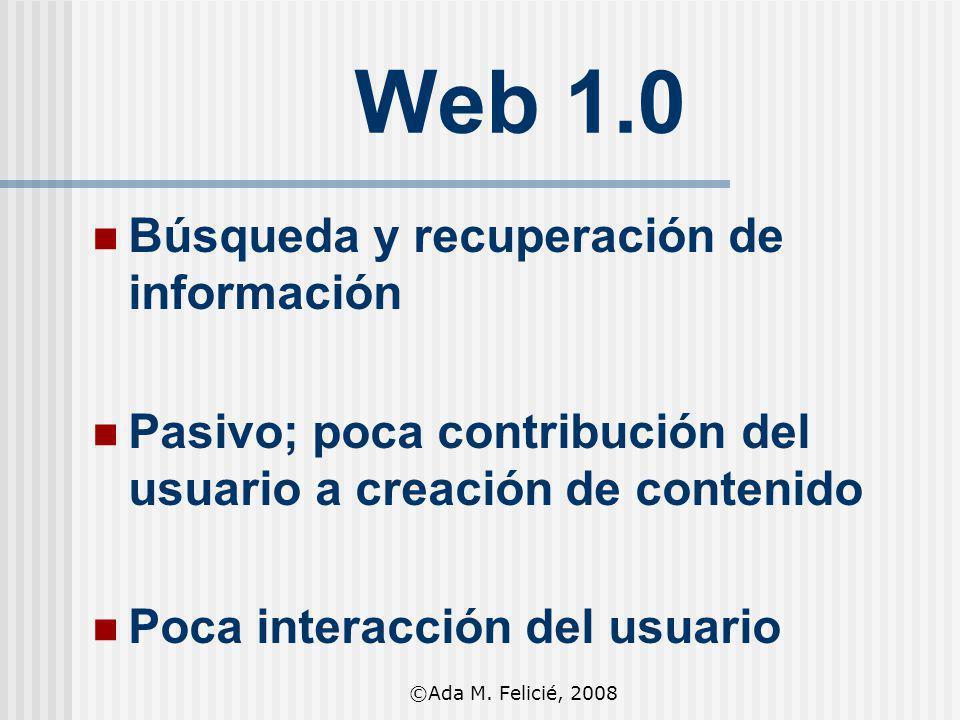 Web 1.0 Búsqueda y recuperación de información