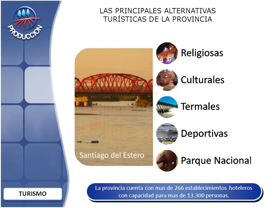 LAS PRINCIPALES ALTERNATIVAS TURÍSTICAS DE LA PROVINCIA