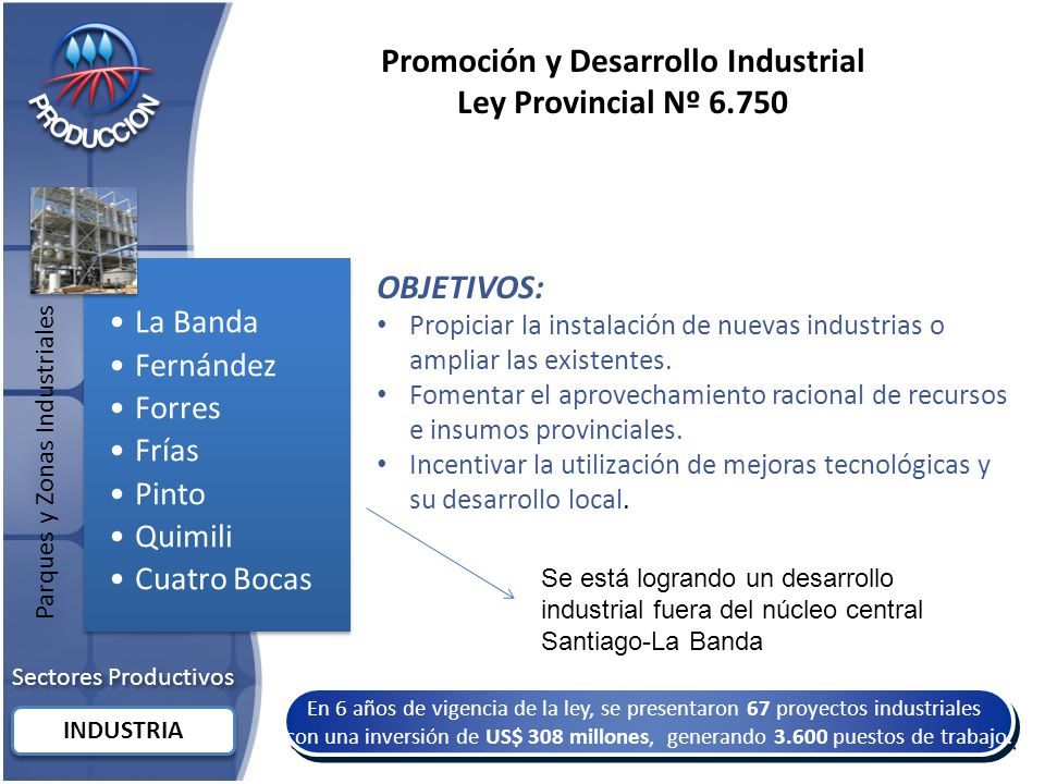 Promoción y Desarrollo Industrial Ley Provincial Nº 6.750