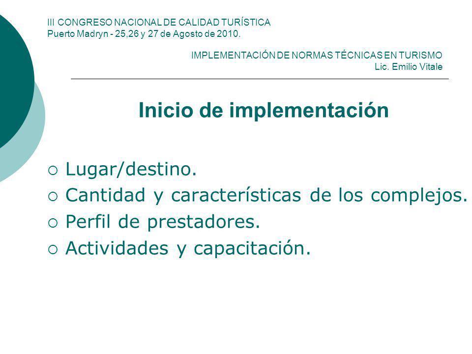 Inicio de implementación