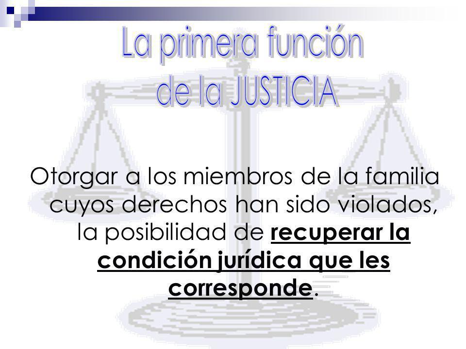 La primera función de la JUSTICIA.