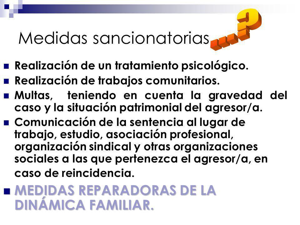 Medidas sancionatorias