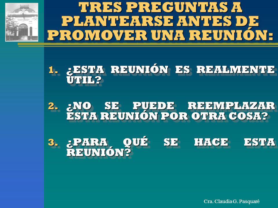 TRES PREGUNTAS A PLANTEARSE ANTES DE PROMOVER UNA REUNIÓN: