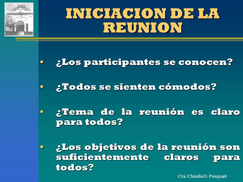 INICIACION DE LA REUNION