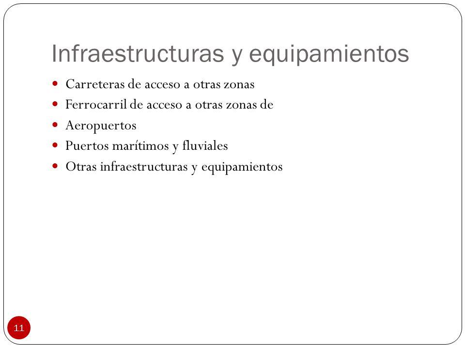 Infraestructuras y equipamientos