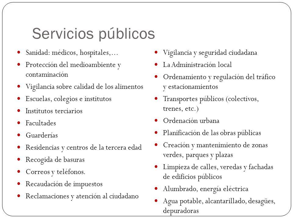 Servicios públicos Sanidad: médicos, hospitales,...