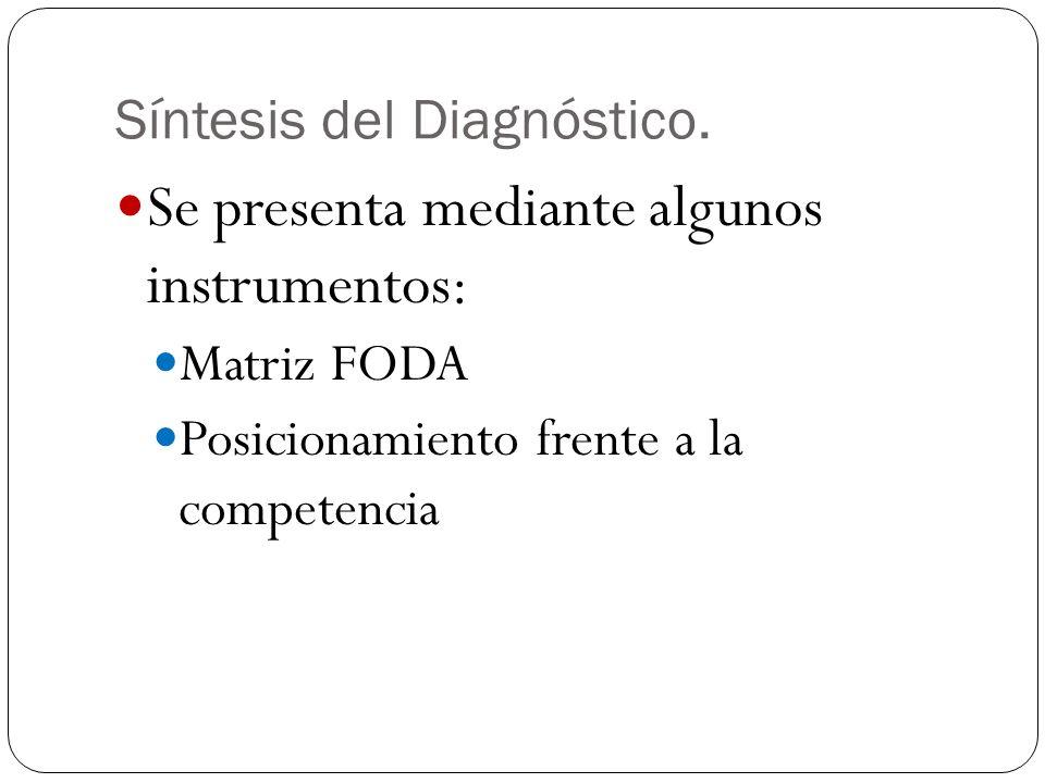 Síntesis del Diagnóstico.