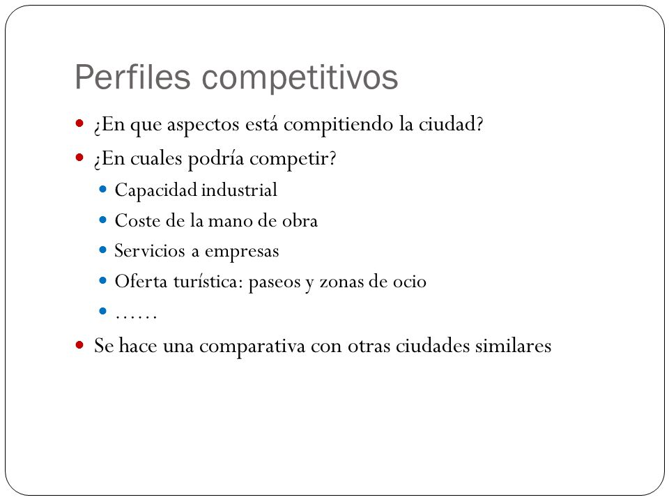 Perfiles competitivos