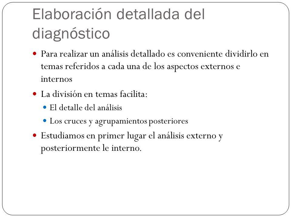 Elaboración detallada del diagnóstico