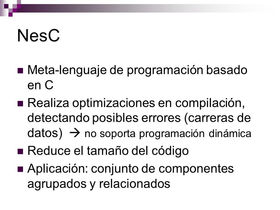 NesC Meta-lenguaje de programación basado en C