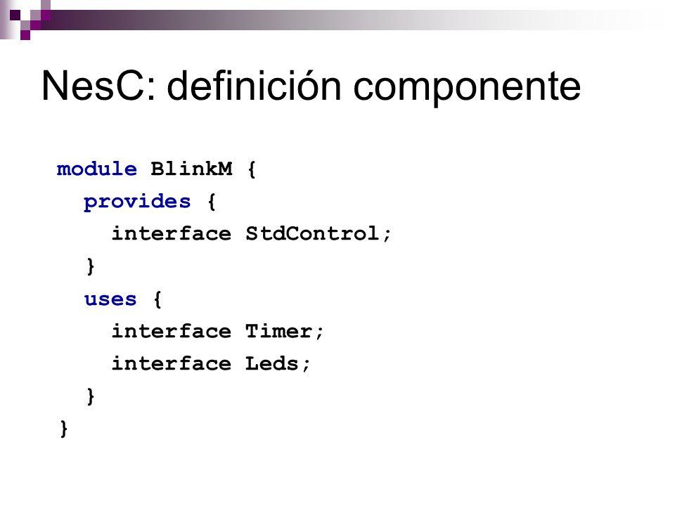 NesC: definición componente