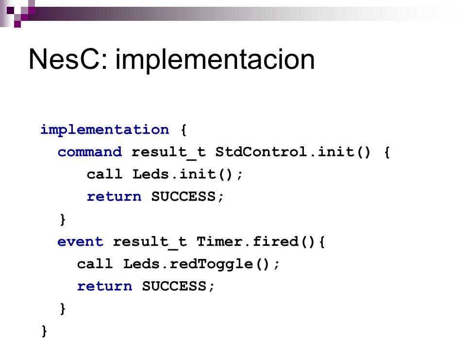 NesC: implementacion
