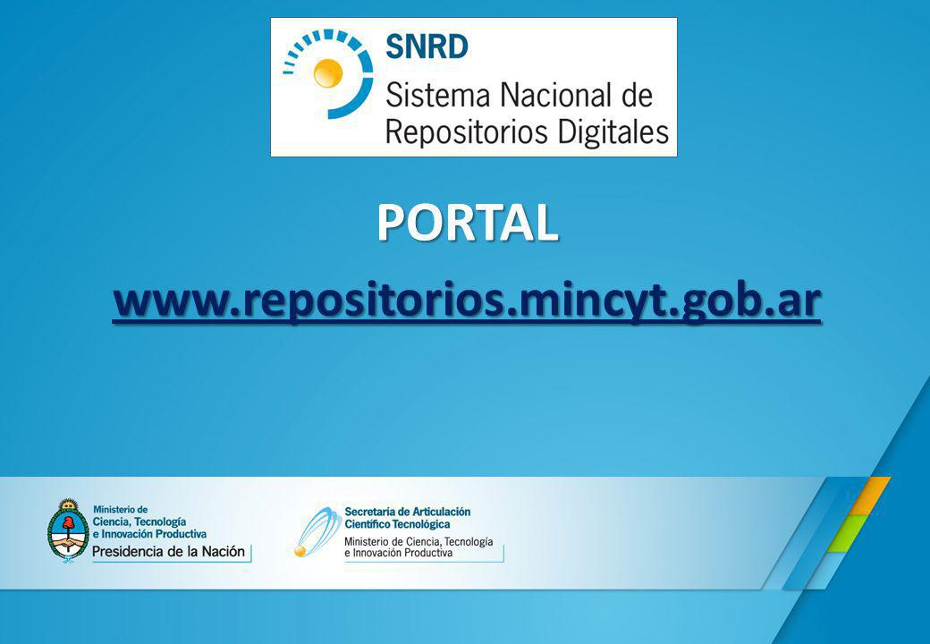 PORTAL www.repositorios.mincyt.gob.ar