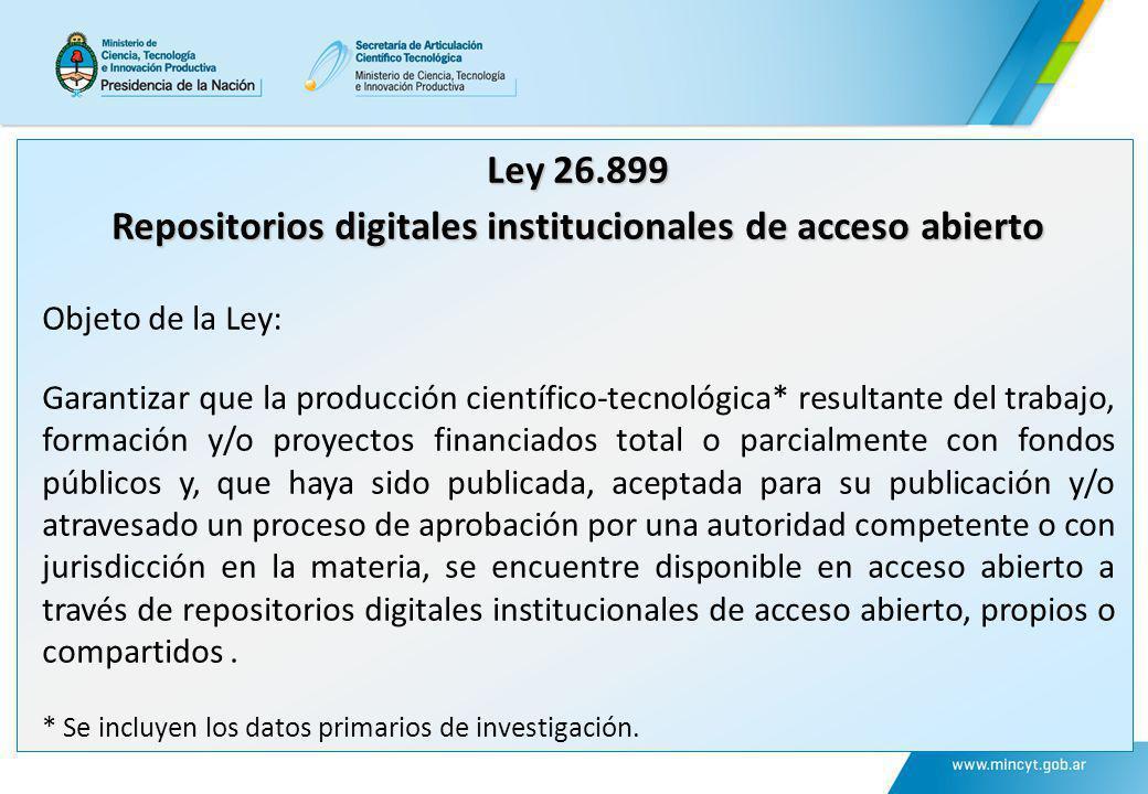 Repositorios digitales institucionales de acceso abierto