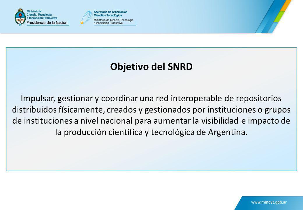 Objetivo del SNRD