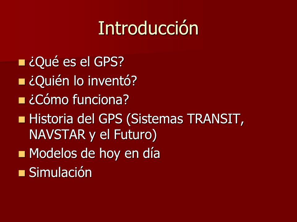 Introducción ¿Qué es el GPS ¿Quién lo inventó ¿Cómo funciona