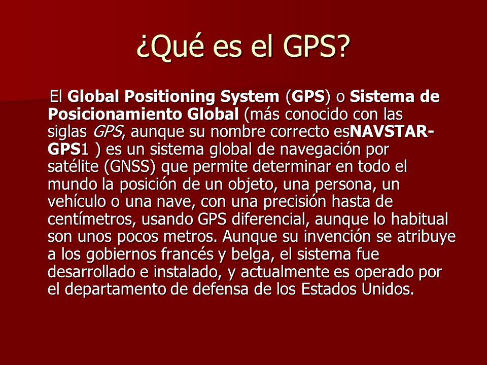 ¿Qué es el GPS