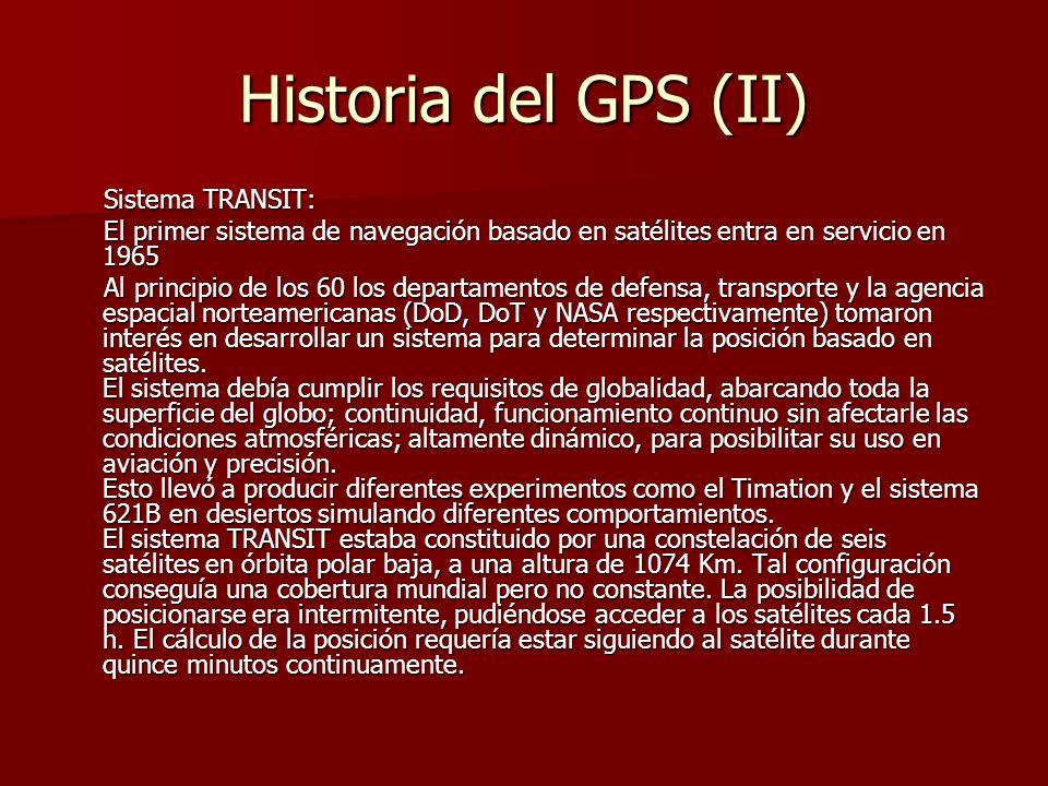 Historia del GPS (II) Sistema TRANSIT: