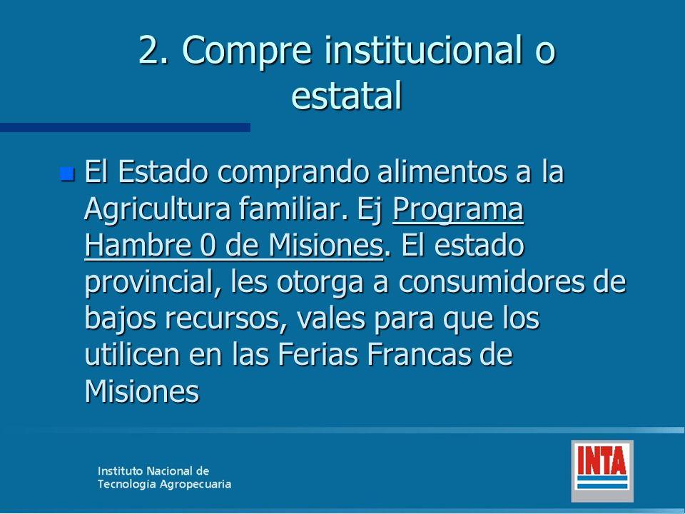 2. Compre institucional o estatal