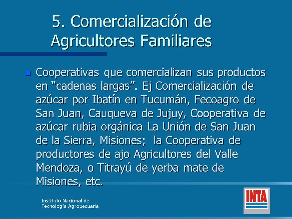5. Comercialización de Agricultores Familiares