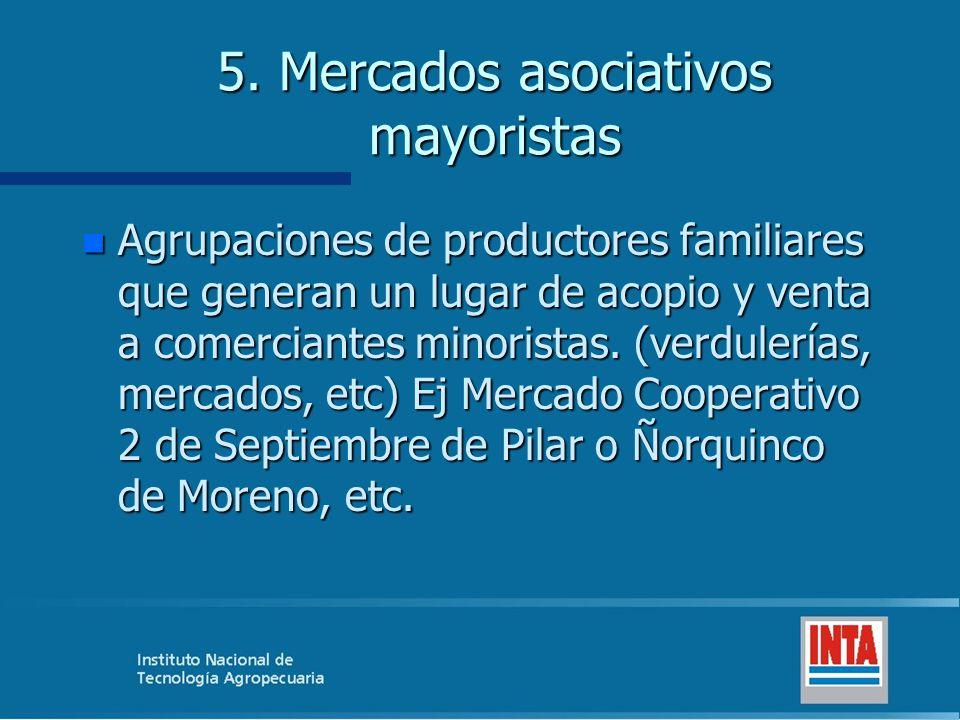 5. Mercados asociativos mayoristas