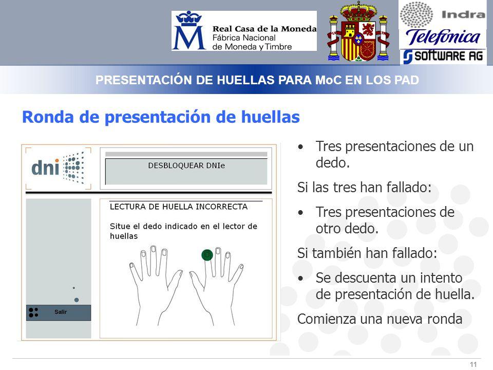 PRESENTACIÓN DE HUELLAS PARA MoC EN LOS PAD