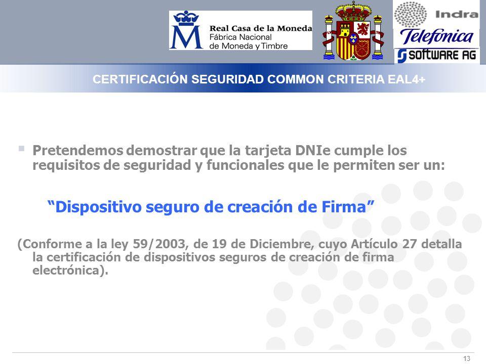 CERTIFICACIÓN SEGURIDAD COMMON CRITERIA EAL4+
