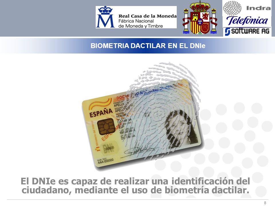 BIOMETRIA DACTILAR EN EL DNIe