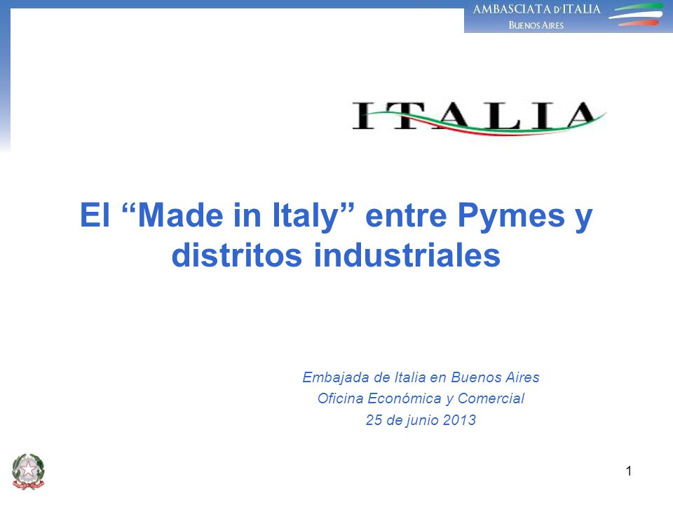 El Made in Italy entre Pymes y distritos industriales