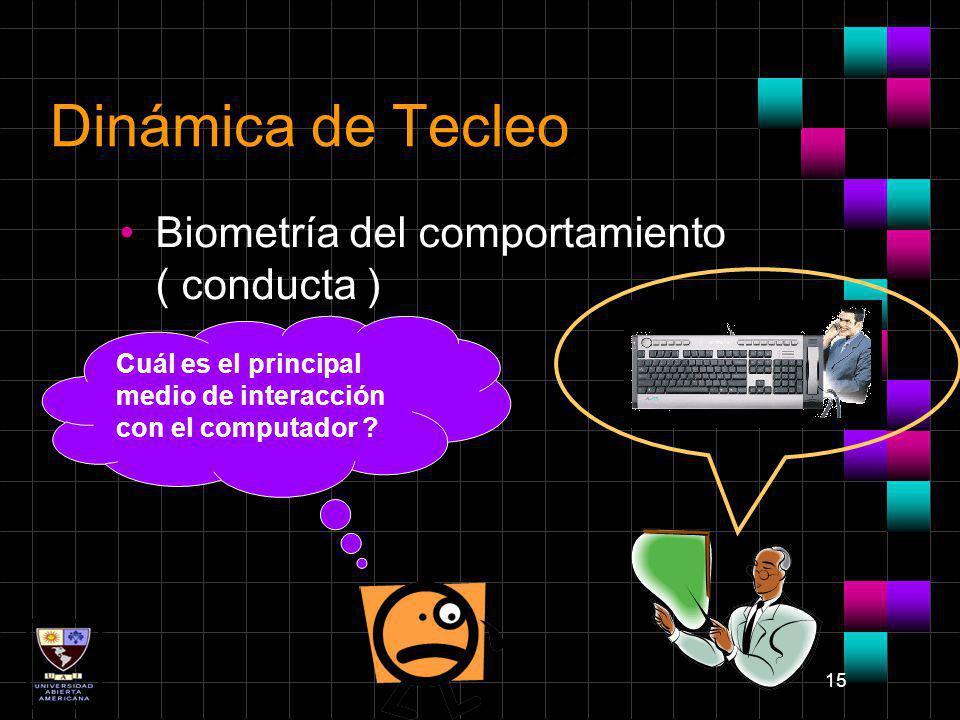 Dinámica de Tecleo Biometría del comportamiento ( conducta )