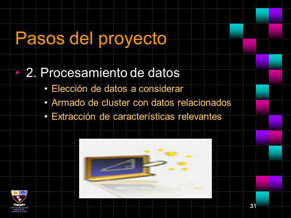 Pasos del proyecto 2. Procesamiento de datos