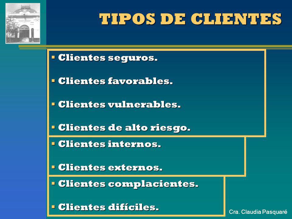 TIPOS DE CLIENTES Clientes seguros. Clientes favorables.