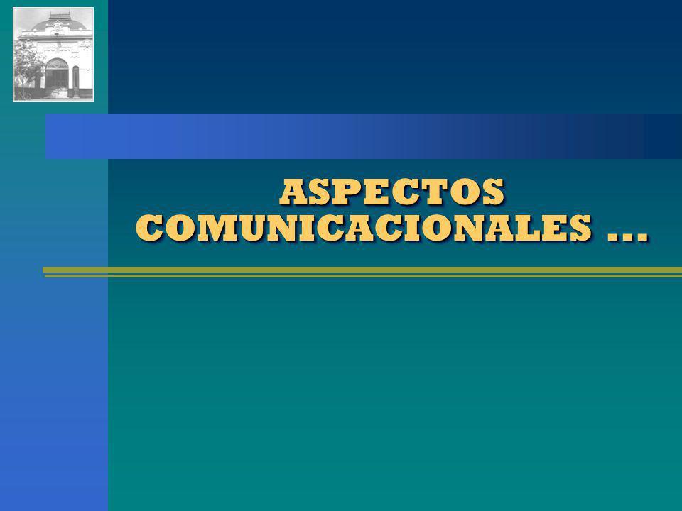 ASPECTOS COMUNICACIONALES ...
